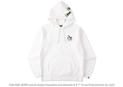BAPE x Tom and Jerry Footprints Pullover Hoodie White (SS21)の写真
