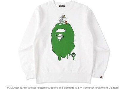 BAPE x Tom and Jerry Painting Crewneck White (SS21)の写真