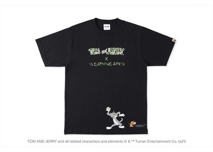 BAPE x Tom and Jerry Footprints Madison Avenue L/S Tee White (SS21)の写真