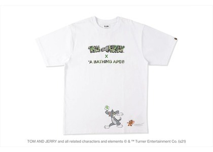 BAPE x Tom and Jerry Tee White (SS21)の写真