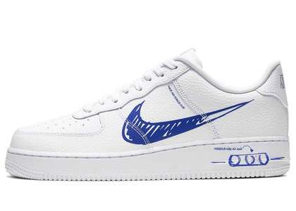 Nike Air Force 1 Low Utility Sketch White Game Royalの写真