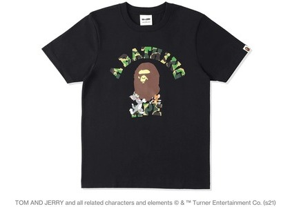 BAPE x Tom and Jerry College Womens Tee Black (SS21)の写真