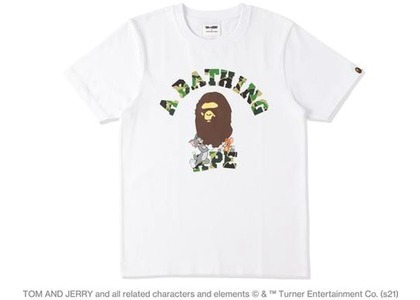 BAPE x Tom and Jerry College Womens Tee White (SS21)の写真