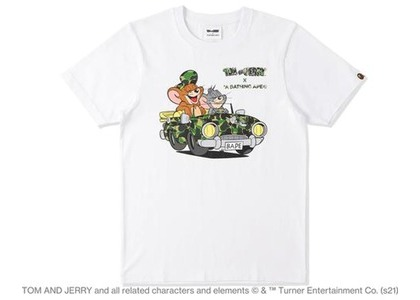 BAPE x Tom and Jerry Cruising Womens Tee White (SS21)の写真