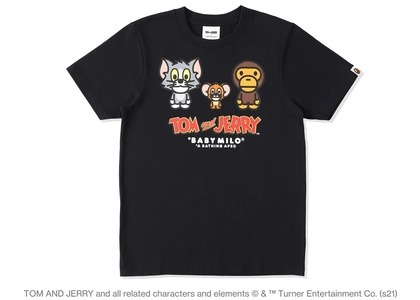 BAPE x Tom and Jerry Baby Milo 2 Womens Tee Black (SS21)の写真
