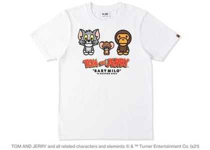 BAPE x Tom and Jerry Baby Milo 2 Womens Tee White (SS21)の写真