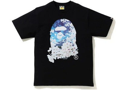 BAPE Sakura Photo Ape Head Tee Black (SS21)の写真