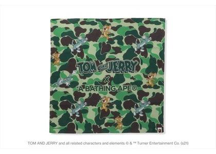 BAPE x Tom and Jerry Camo Bandana Green (SS21)の写真