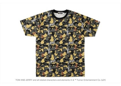 BAPE x Tom and Jerry Camo Madison Avenu Tee Beige (SS21)の写真