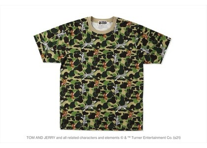 BAPE x Tom and Jerry Camo Tee Green (SS21)の写真