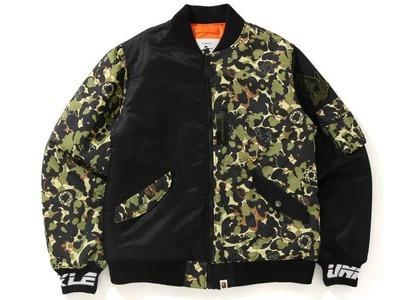 BAPE x UNKLE MWA CAMO MA-1 Jacket Black (SS21)の写真