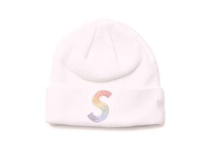 Supreme New Era Swarovski S Logo Beanie White (SS21)の写真