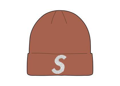 Supreme New Era Swarovski S Logo Beanie Brown (SS21)の写真