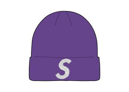 Supreme New Era Swarovski S Logo Beanie Purple (SS21)の写真
