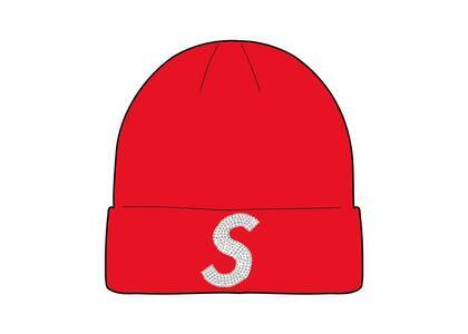 Supreme New Era Swarovski S Logo Beanie Red (SS21)の写真