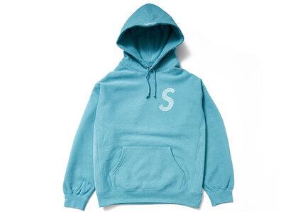 Supreme Swarovski S Logo Hooded Sweatshirt Light Blue (SS21)の写真