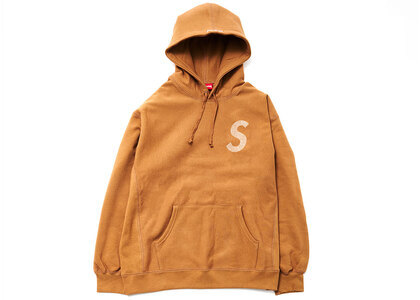 Supreme Swarovski S Logo Hooded Sweatshirt Brown (SS21)の写真