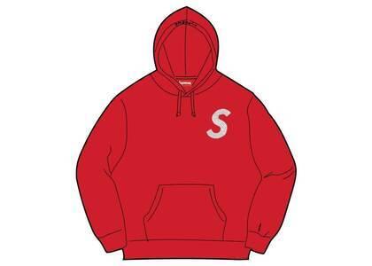 Supreme Swarovski S Logo Hooded Sweatshirt Red (SS21)の写真