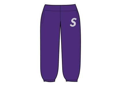 Supreme Swarovski S Logo Sweatpant Purple (SS21)の写真