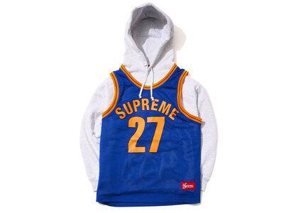 Supreme Basketball Jersey Hooded Sweatshirt Bule/Orange (SS21)の写真