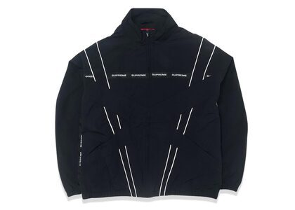 Supreme Cross Paneled Track Jacket Black (SS21)の写真