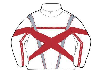 Supreme Cross Paneled Track Jacket White (SS21)の写真