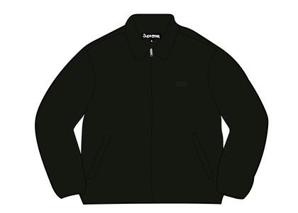 Supreme Suede Harrington Jacket Black (SS21)の写真
