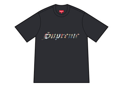 Supreme Floral Applique S/S Top Black (SS21)の写真
