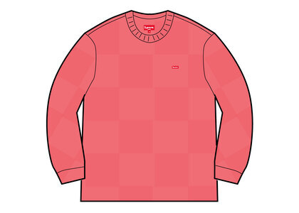 Supreme Tonal Checkerboard Small Box Sweater Pink (SS21)の写真