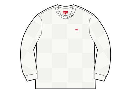 Supreme Tonal Checkerboard Small Box Sweater White (SS21)の写真