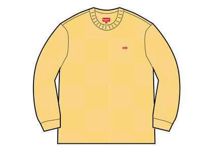Supreme Tonal Checkerboard Small Box Sweater Yellow (SS21)の写真