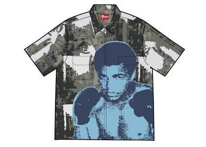 Supreme Muhammad Ali Zip Up S/S Shirt Black (SS21)の写真