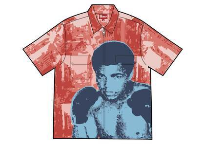 Supreme Muhammad Ali Zip Up S/S Shirt Red (SS21)の写真