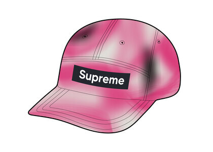 Supreme Washed Satin Camo Camp Cap Pink (SS21)の写真