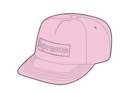 Supreme KAWS Chalk Logo 5-Panel Pink (SS21)の写真