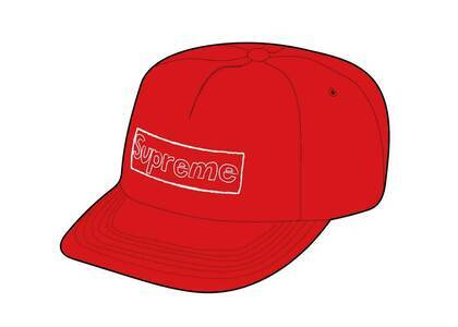 Supreme KAWS Chalk Logo 5-Panel Red (SS21)の写真
