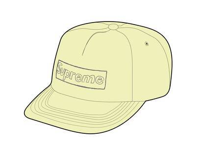 Supreme KAWS Chalk Logo 5-Panel Yellow (SS21)の写真