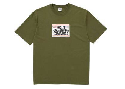 The Black Eye Patch × Wasted Youth Priority Label Tee Oliveの写真