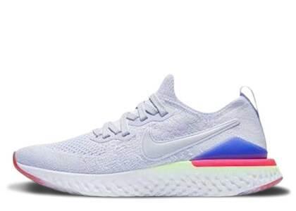 Nike Epic React Flyknit 2 Hydrogen Blue Sapphire Hyper Pink GSの写真