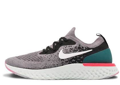 Nike Epic React Flyknit Gunsmoke Black GeodeTeal GSの写真
