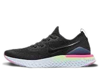 Nike Epic React Flyknit 2 Black Sapphire Hyper Pink GSの写真
