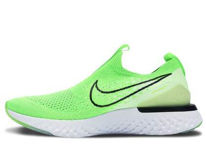 Nike Epic Phantom React Flyknit Electric Green Womensの写真