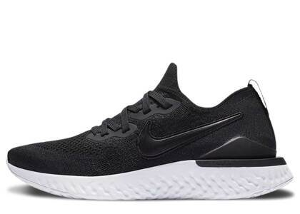 Nike Epic React Flyknit 2 Black White Womensの写真