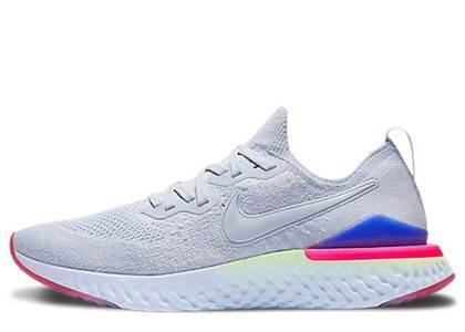 Nike Epic React Flyknit 2 Hydrogen Blue Sapphire Hyper Pink Womensの写真