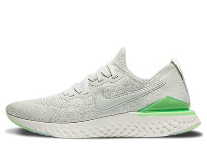 Nike Epic React Flyknit 2 Light Silver Lime Blast Womensの写真