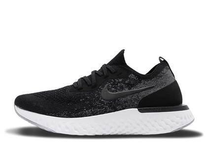 Nike Epic React Flyknit Black Dark Grey Womensの写真