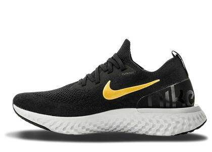Nike Epic React Flyknit Black Gold Womensの写真