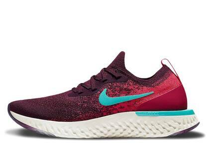Nike Epic React Flyknit Bordeaux Hyper Jade Womensの写真
