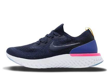 Nike Epic React Flyknit College Navy Womensの写真