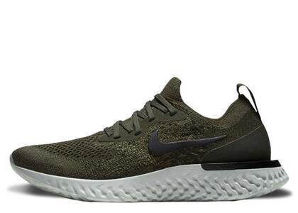 Nike Epic React Flyknit Olive Womensの写真